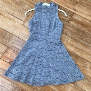 Very flattering periwinkle lace mini dress